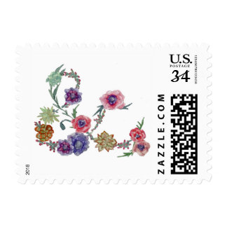 Wedding Stamp * Save The Date * Flowers