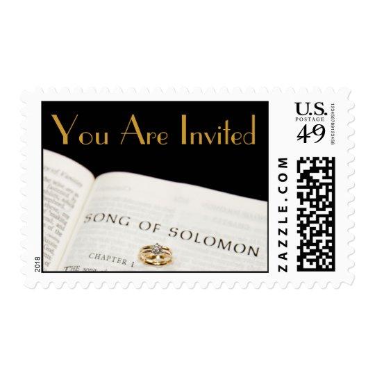 Wedding Stamp You Are Invited  Bib...