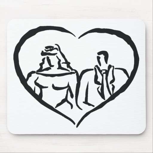 Wedding Stamps 30 Mouse Pad