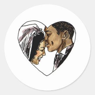 Wedding Stamps 6 Round Sticker