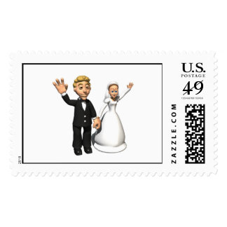 Wedding Stamps - Bride and Groom