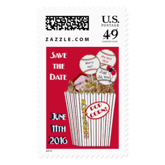 Wedding Stamps Popcorn Bouquet Red-Sylvia