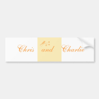 Wedding Stationary and Civil Ceremony customize Bumper Sticker