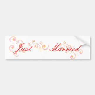 Wedding Stationary Light Curl set Bumper Sticker