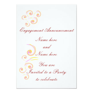 Wedding Stationary Light Curl set Card