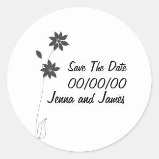 Wedding stationary range, customize classic round sticker