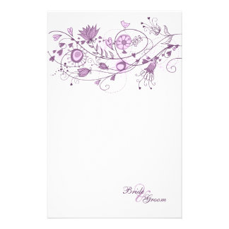 Wedding Stationary - Whimsical Lavender 1 Stationery Design