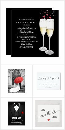 Wedding Stationery-Coordinated Black and White