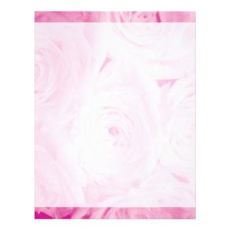 Wedding stationery | Pink rose flower letterhead