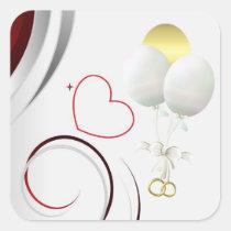 baby, shower, stickers, yellow, duck, ducky, wedding, Sticker with custom graphic design