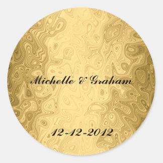 Wedding Sticker Gold