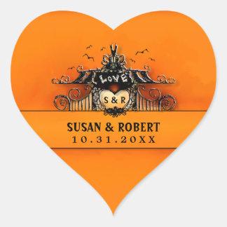 Wedding Sticker - Halloween Love