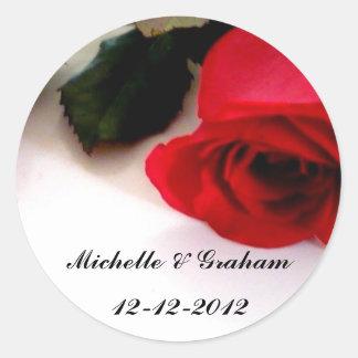 Wedding Sticker Red Roses