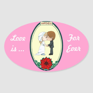 Wedding stickers - Kissing couple