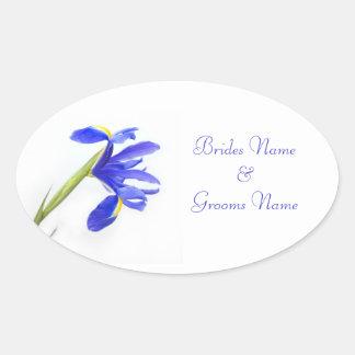 Wedding Stickers - Purple Iris Flower