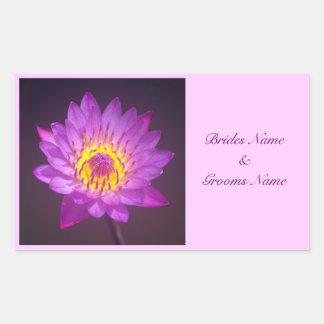 Wedding Stickers - Purple Lotus Flower