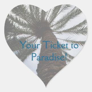 Wedding Stickers to Seal Envelope - Palm Tree II