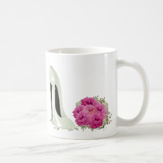 Wedding Stiletto Shoe and Bouquet of Roses Coffee Mug