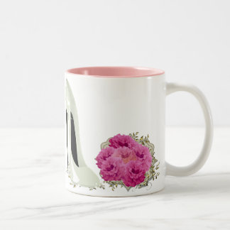 Wedding Stiletto Shoe and Roses Bouquet Gifts Two-Tone Coffee Mug