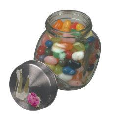 Wedding Stiletto Shoes and Bouquet Art Jelly Jar Glass Jars at Zazzle