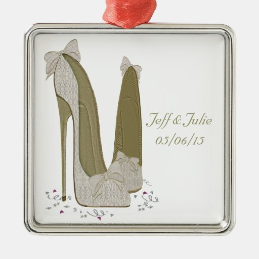 Wedding Stiletto Shoes Art Gifts Christmas Tree Ornaments