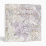 Wedding. Stylised lily flowers. Avery Binder