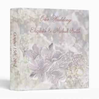 Wedding Stylised lily flowers Avery Binder