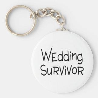 Wedding Survivor Basic Round Button Keychain