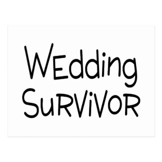 Wedding Survivor Postcard