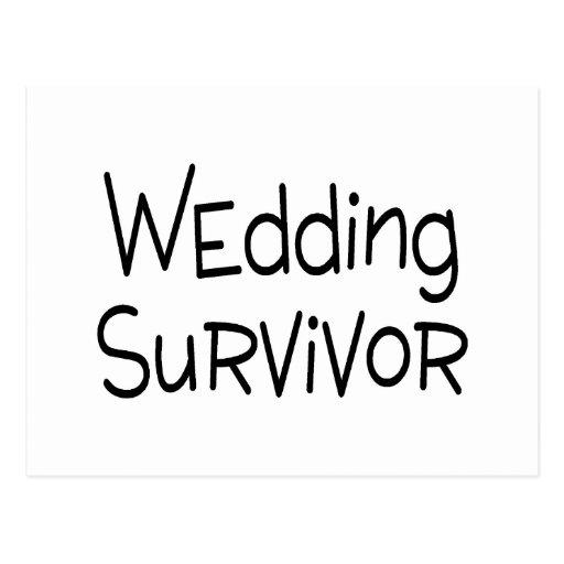Wedding Survivor Post Card