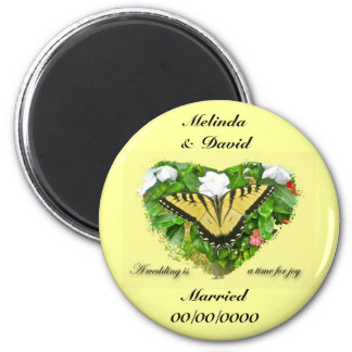 Wedding Swallowtail Butterfly Items Magnet