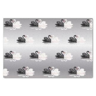Wedding Swans Silver Tissue Paper