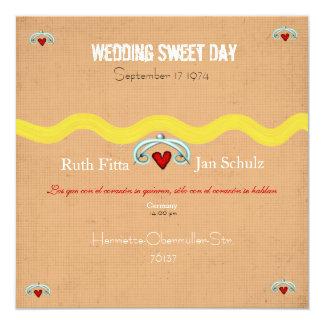 Wedding Sweet Heart Invitation