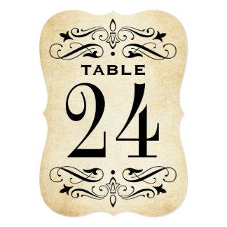 Wedding Table Card | Vintage Flourish