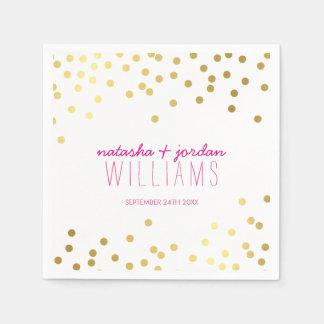 WEDDING TABLE DECOR cute confetti gold gray pink Napkin