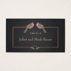 Wedding Table Number Birds Black Chalkboard Business Card at Zazzle