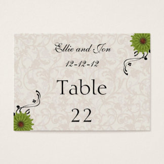 WEDDING TABLE NUMBER  CARD TEMPLATES
