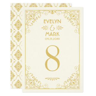Wedding Table Number Cards | Art Deco Style