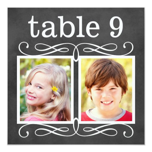 Wedding Table Number Cards Bride + Groom Photos