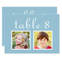 Wedding Table Number Cards | Bride   Groom Photos