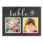 Wedding Table Number Cards | Bride   Groom Photos