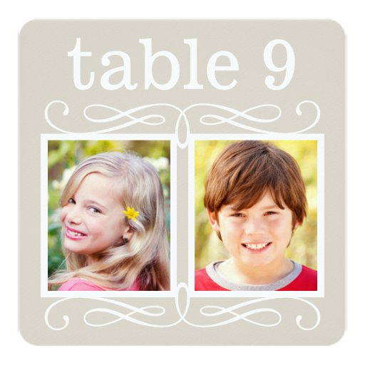 Wedding Table Number Cards | Bride + Groom Photos Personalized Invitation