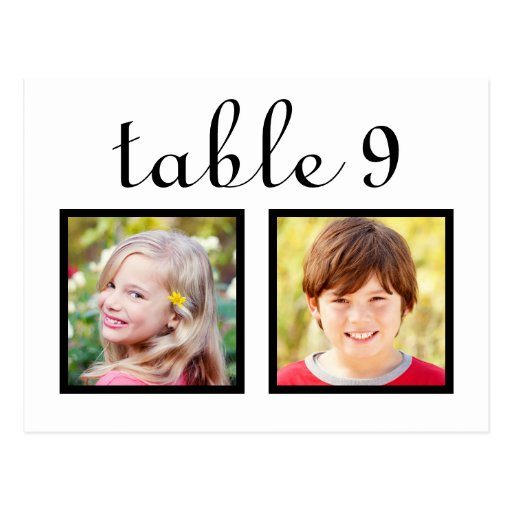 Wedding Table Number Cards | Bride + Groom Photos Post Cards
