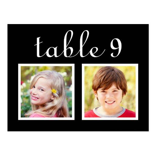 Wedding Table Number Cards | Bride + Groom Photos Postcards