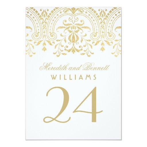 Wedding Table Number Cards   Gold Vintage Glamour T-Shirt, Hoodie, Sweatshirt