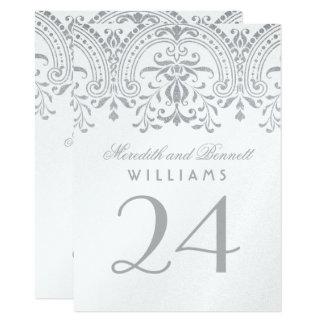 Wedding Table Number Cards | Silve Vintage Glamour