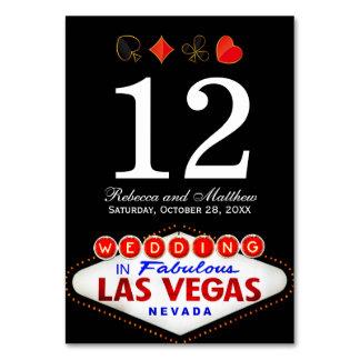 Wedding Table Number in Fabulous Las Vegas Card