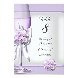 Wedding Table Number Lavender Purple Lilac 3