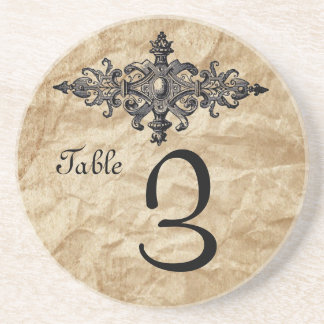 Wedding Table number Party Reception Rustic Beverage Coasters