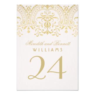 Elegant Vintage Wedding Table Numbers Invitations & Announcements Vintage Table Numbers